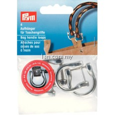 Bag handle loops silver col 18 mm
