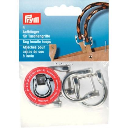 Bag handle loops silver col 18 mm