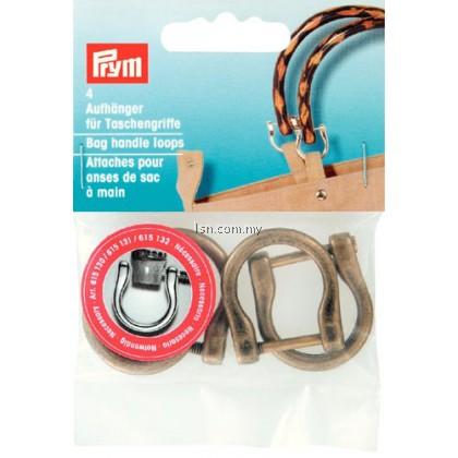 Bag handle loops antique brass 18 mm