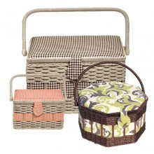 Sewing Basket & Storage Boxes