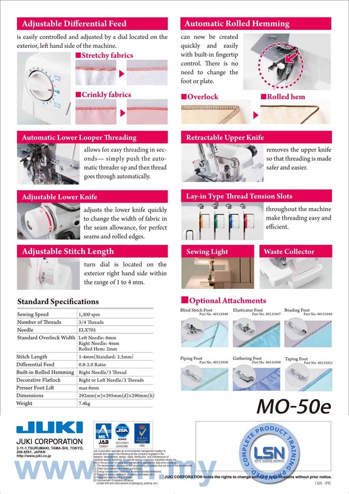 Juki Mo50e Overlock Machine End 8 27 2020 10 51 Pm